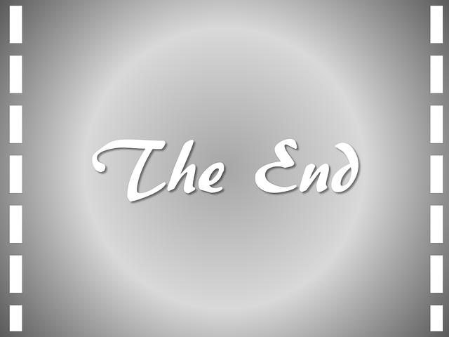 Movie End Cinema Film Hollywood  - Tumisu / Pixabay